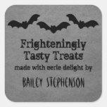 Trio of Bats Halloween Baking Stickers, Gray