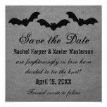 """Trio of Bats Halloween Save the Date Invite 5.25"""" Square Invitation Card"""