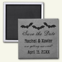 Trio of Bats Halloween Save the Date Magnet