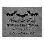Trio of Bats Halloween Save the Date Postcard