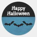 Trio of Bats Halloween Stickers, Dark Blue