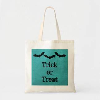 Trio of Bats Halloween Treat Bag, Teal