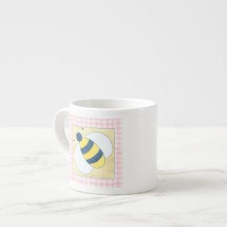 Trio of Bees with Flowers Espresso Mug