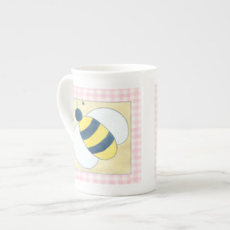 Trio of Bees with Flowers Tea Cup