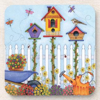 Trio of Birdhouses Coaster