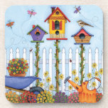 Trio of Birdhouses Coasters