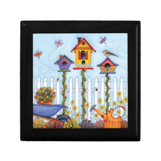 Trio of Birdhouses Keepsake Box