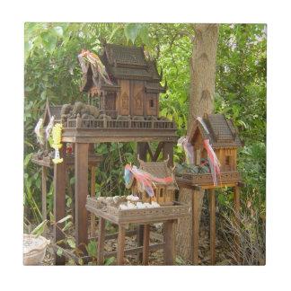 Trio of Birdhouses Tile