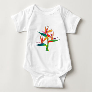 Trio of Birds of Paradise Baby Bodysuit