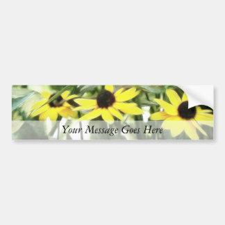 Trio Of Black Eyed Susans Bumper Sticker