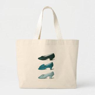 Trio of Blue Shoes Tote Bag