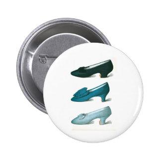 Trio of Blue Shoes Button
