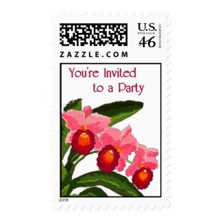 Trio of Cattleyas Invitation Postage Stamp