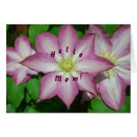 Trio of Clematis Mother's Day Card