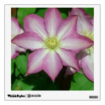 Trio of Clematis Pink and White Spring Flowers Wall Decal