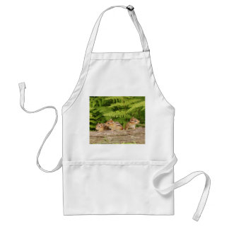 Trio of Curious Baby Chipmunks Adult Apron