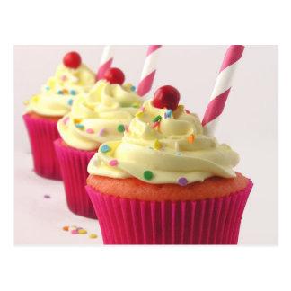 Trio Of Decorated Cupcakes Postcard