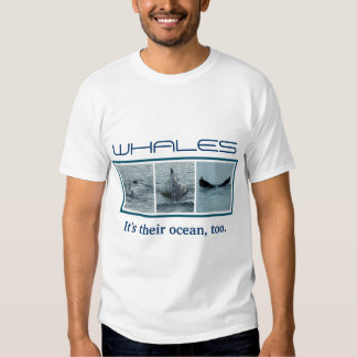 Trio of Diving Whale Photo Images T Shirt
