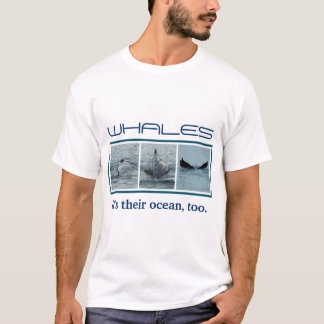 Trio of Diving Whale Photo Images T-Shirt