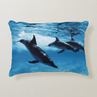 Trio of Dolphins Accent Pillow