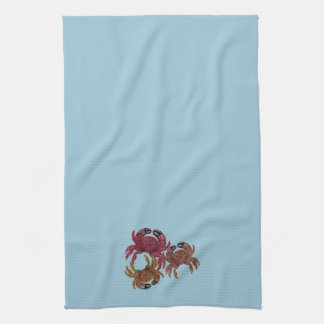 Trio of Dungeness Crabs Hand Towel