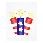 """Trio of Firecrackers for the 4th of July 8.5"""" X 11"""" Flyer"""