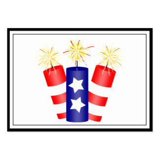 Trio of Firecrackers for the 4th of July Large Business Cards (Pack Of 100)
