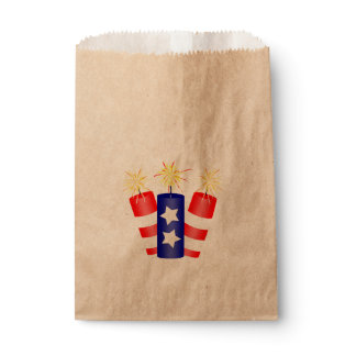 Trio of Firecrackers for the 4th of July Favor Bag