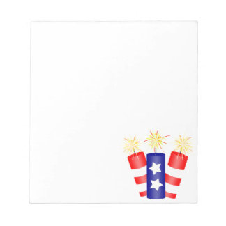 Trio of Firecrackers for the 4th of July Notepad