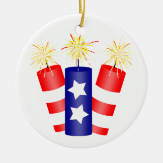 Trio of Firecrackers for the 4th of July Ornament