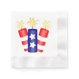 Trio of Firecrackers for the 4th of July Paper Napkins