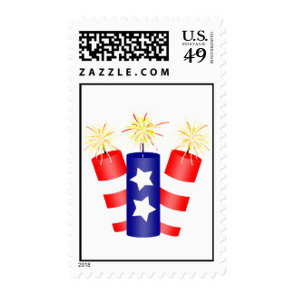 Trio of Firecrackers for the 4th of July Postage Stamps
