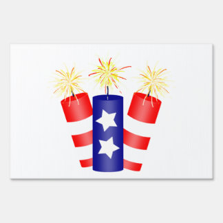 Trio of Firecrackers for the 4th of July Signs