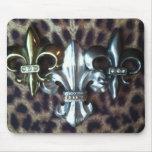 Trio of Fleur de lis Mouse Pads