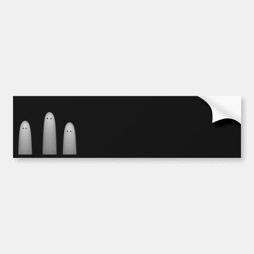 Trio of Ghosts CLASSY Bumper Sticker
