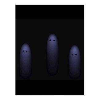 Trio of Ghosts ( denim ) Postcard