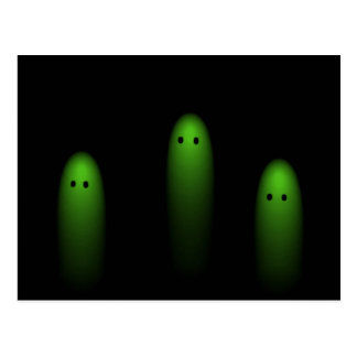 Trio of Ghosts ( Green ) Postcard