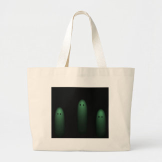 Trio of Ghosts Light Green Canvas Bags