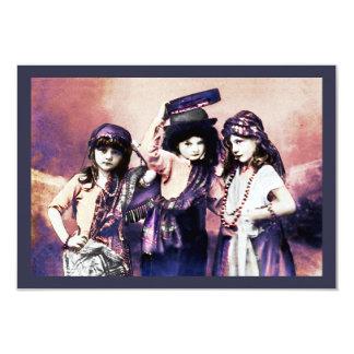 Trio of Gypsy Children Card