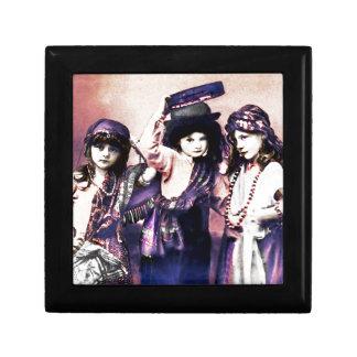 Trio of Gypsy Children Keepsake Box
