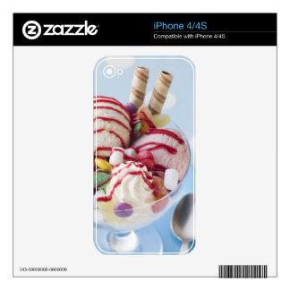 Trio of Ice Cream and Sweet Sundae iPhone 4 Skin