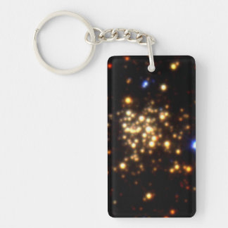 Trio of Images of the Arches Cluster Double-Sided Rectangular Acrylic Keychain