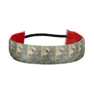 Trio of Lady Amherst's pheasant by waterfall Athletic Headband