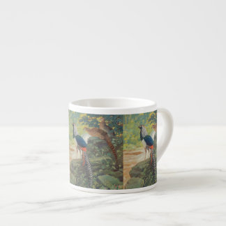 Trio of Lady Amherst's pheasant by waterfall Espresso Cup