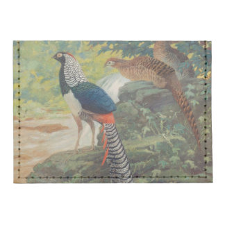 Trio of Lady Amherst's pheasant by waterfall Tyvek® Card Case Wallet