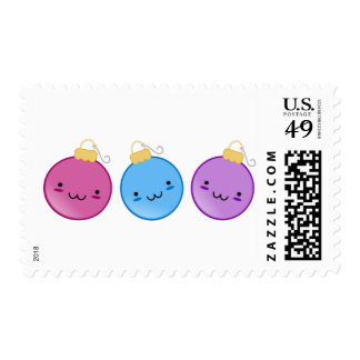 Trio of Ornaments Postage