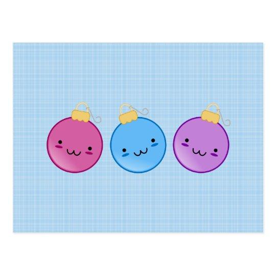 Trio of Ornaments Postcard
