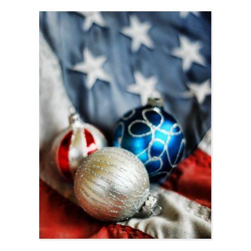 Trio of Patriotic Ornaments Postcard