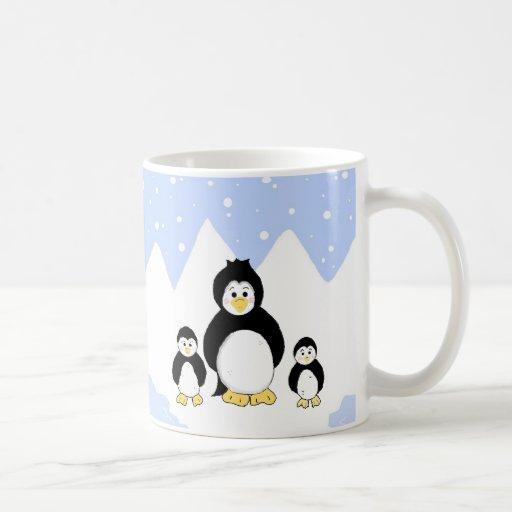 Trio of Penguins Coffee Mug