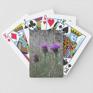 Trio of purple thistles card decks